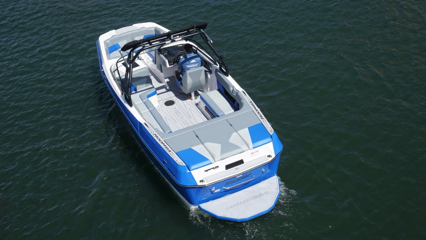 Pontoon Boat Seats For Sale >> Moomba MAX 23′ Blue – Surf/Wake | Lake Escapes Boat Rentals
