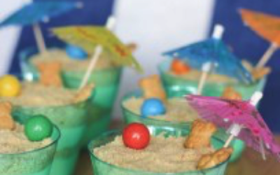 Let's Take the Beach on The Boat: Sand Pudding Cups